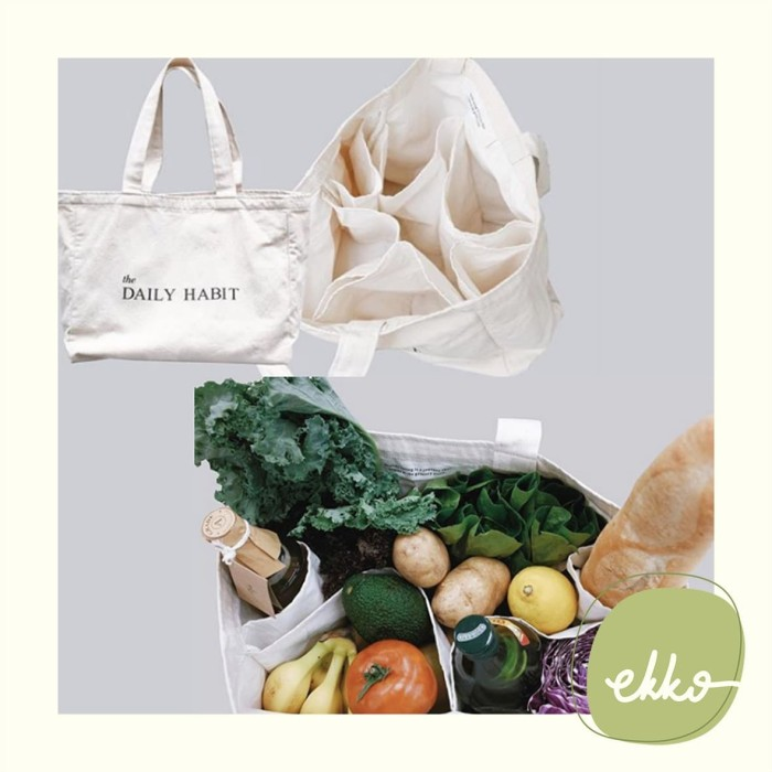 Foto Produk Eco Grocery Shopping Bag with Compartment (BEIGE) by The Daily Habit dari Ekko Store