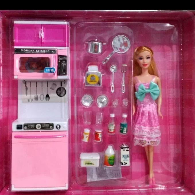 Jual Mainan Dapur Modern Kitchen Barbie Pink 818 8 Ada Boneka 28 Cm Jakarta Barat Jati Shop01 Tokopedia