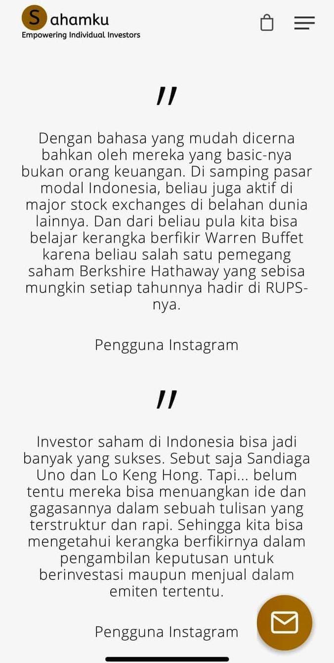 Jual HOT SALE Buku Investasi Saham TERJAMIN Jakarta Barat Thiana Martasari