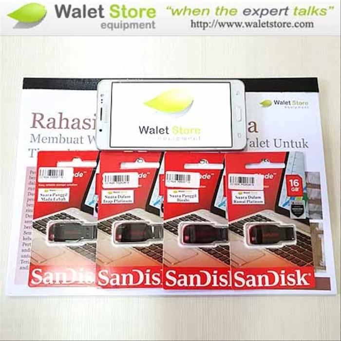 Foto Produk Paket Suara Walet 4 Flashdisk + 1 Buku onderdil dari hafalashop