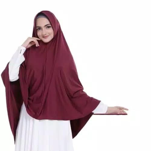Jual Hijab Jilbab Kerudung Khimar Syari Bergo Jumbo Kota Samarinda Cosmetic Hq Tokopedia