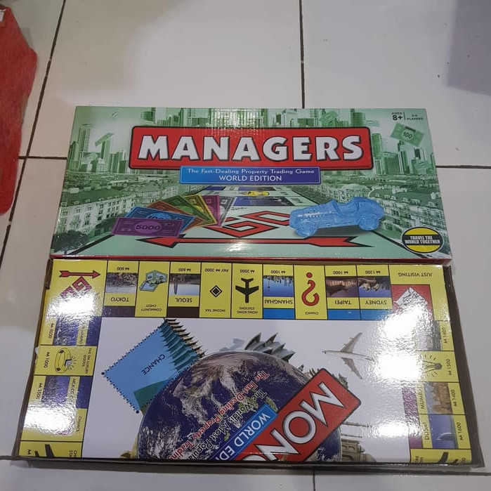 Foto Produk Monopoly World Edition Managers fast dealing property trading Game dari Tokosy