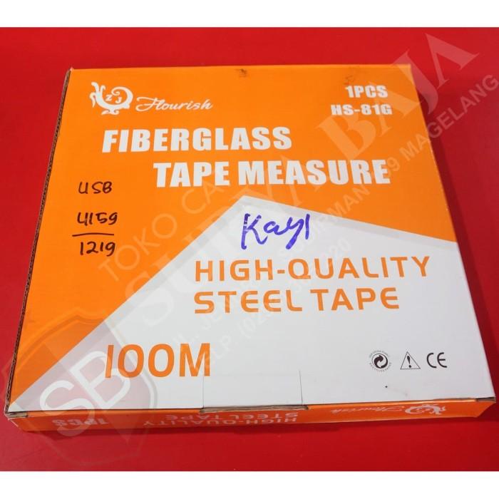 Foto Produk Hourish Fiberglass Tape Measure 100 M dari suryabaja