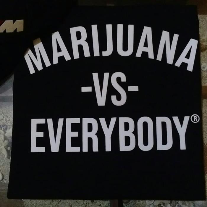 Jual Kaos Marijuana Vs Everybody Kota Bekasi Miw Clothing Tokopedia