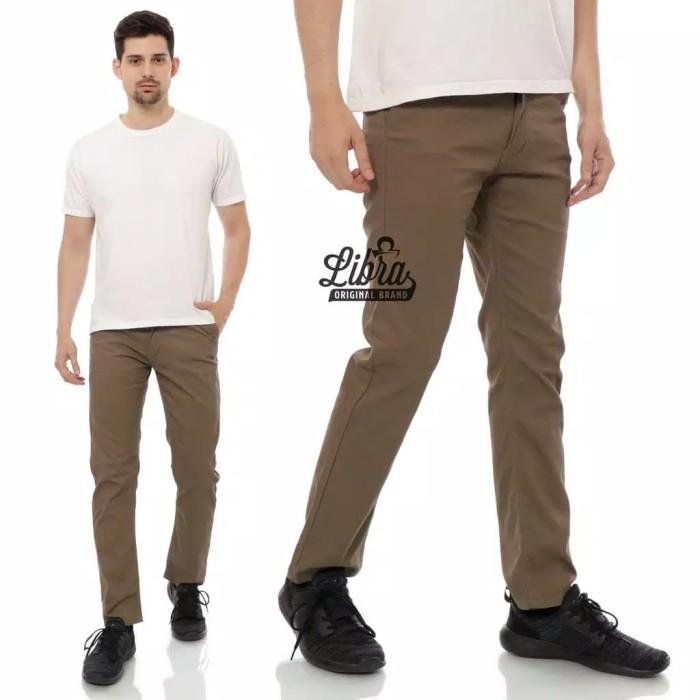 Foto Produk Celana Panjang Chino Original Libra celana panjang cokelat kopi coffee - Cokelat, M dari Roratoko