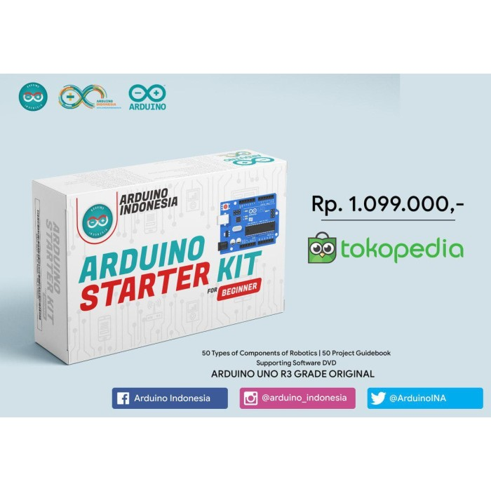 Foto Produk Starter KIT for Beginner - Premium Version - Made in Arduino Indonesia dari Electronics 3 in 1