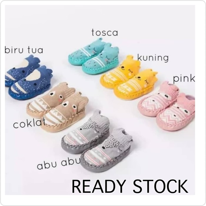Foto Produk babygima sepatu prewalker kaos kaki bayi dan anak perempuan laki laki - Biru, 11 dari Gima shop