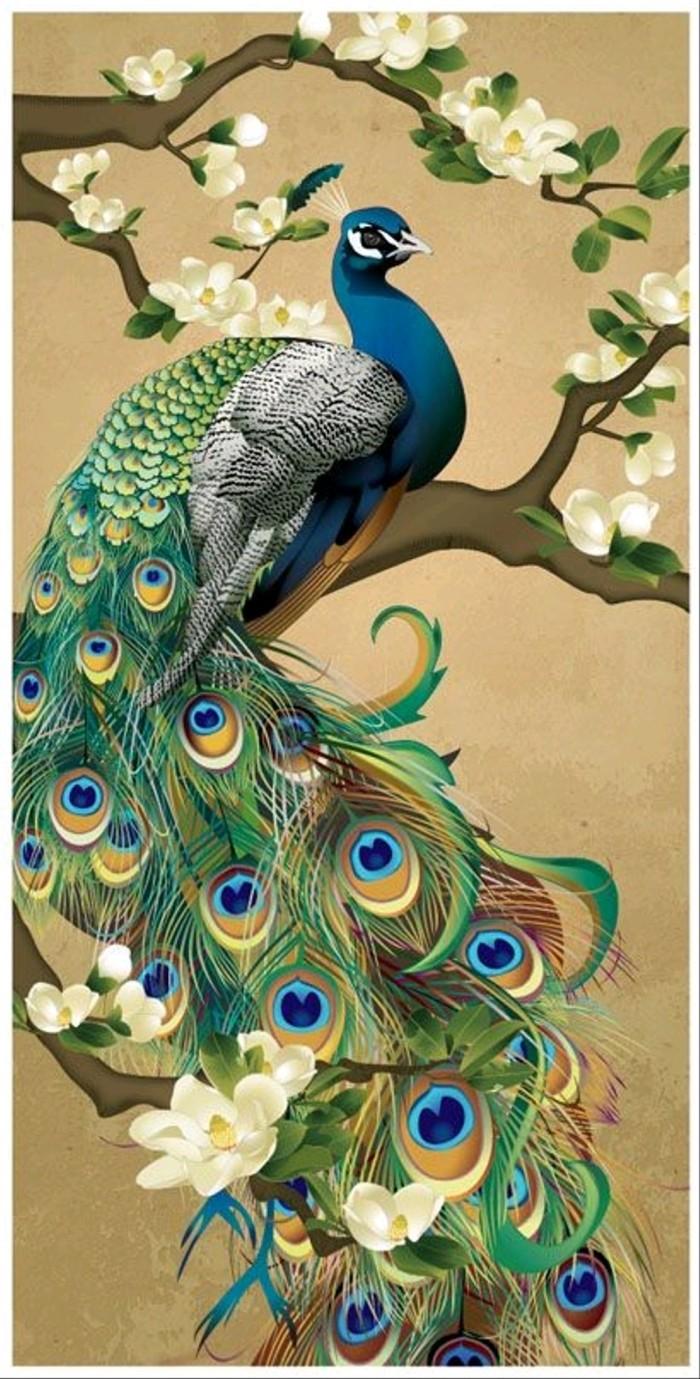 Jual Lukisan Burung Merak Dekorasi Indah Kota Denpasar Kenzojaya245 Tokopedia