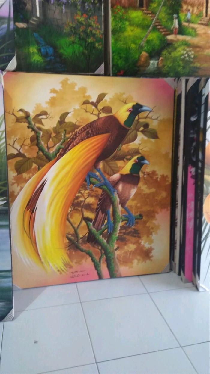 Jual Lukisan Kanvas Burung Cendrawasih B Kota Denpasar Gandhijaya896
