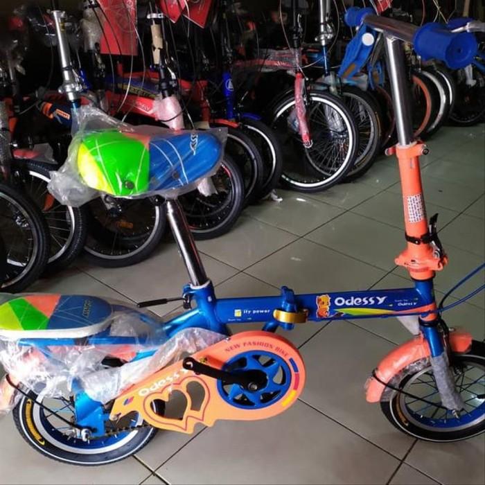 Jual Bagus MURAH Sepeda Lipat Anak 12 Odessy 09 JULI