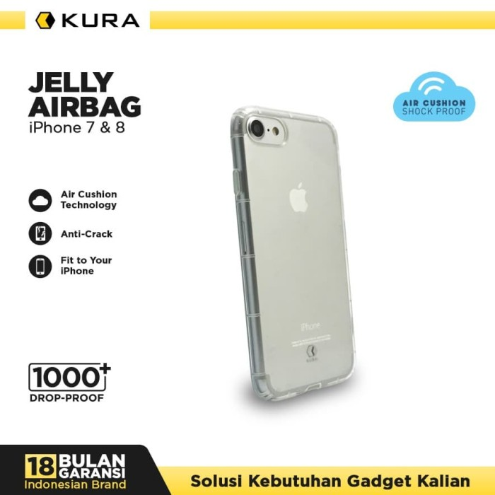 Foto Produk KURA Case Jelly Airbag - iPhone 7 8 - Hitam dari KURA Elektronik