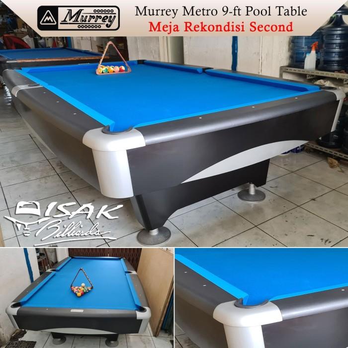 Foto Produk Murrey Metro 9-ft Second - Meja Bekas 9 feet Billiard Pool Table Asli dari ISAK Billiard Sport Co.