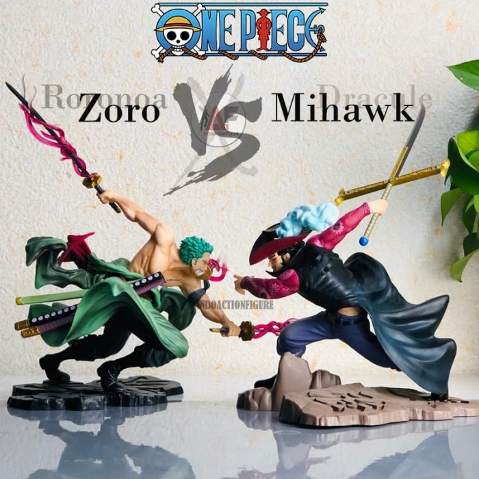 Foto Produk Action figure One Piece dracule mihawk POP MAX battle VS Zoro edition dari IndoActionFigure