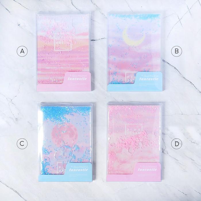 Foto Produk Pink Dream Quicksand Ruled Notebook A5 / Buku Tulis A5 / Buku A5 - VARIAN A dari Pinkabulous