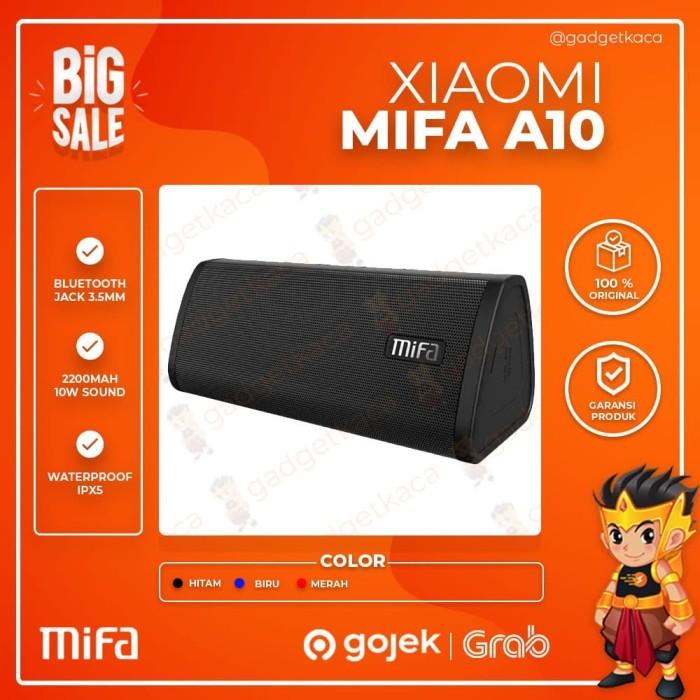 Foto Produk Speaker Portable Bluetooth Xiaomi MiFa A10 Water Resistant Original - Hitam dari GadgetKaca