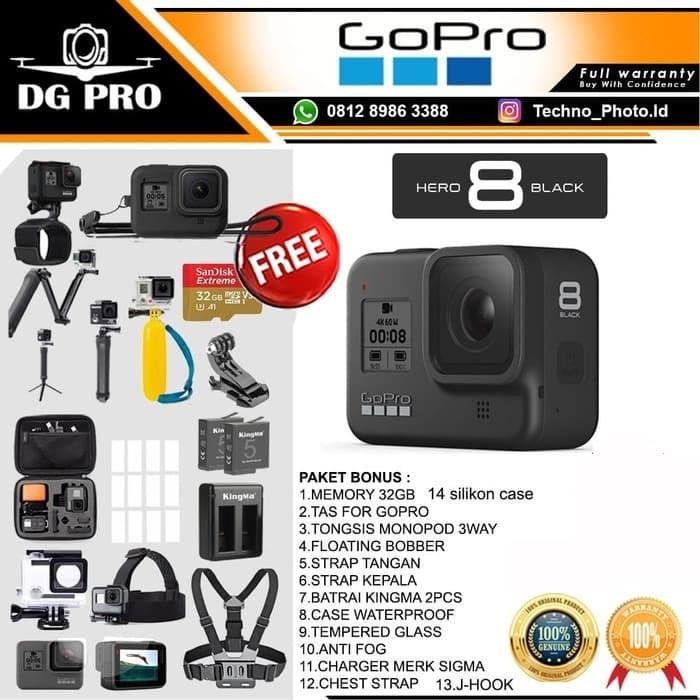 Foto Produk GoPro HERO8 Black - GoPro HERO 8 Black - Go Pro HERO 8 Paket Komplit dari DG PRO