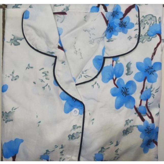 Foto Produk PIYAMA CP Fit To L Motif NEW SAKURA LD100 - Biru Muda dari cantik piyama