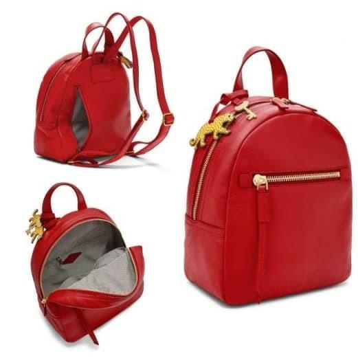 Foto Produk Fossil Megan Backpack Red. Tas Fossil Ransel dari Laristie