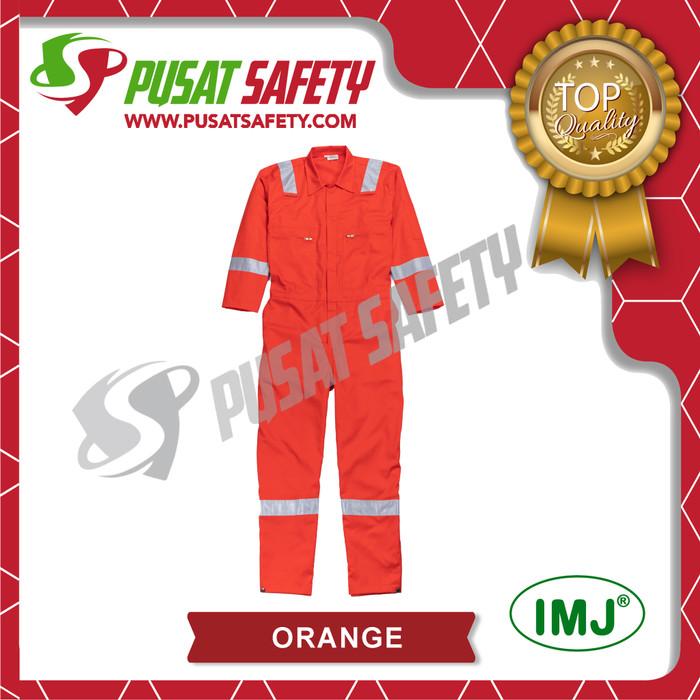 Foto Produk Wearpack Safety / Seragam Kerja / Coverall IMJ Semi Cotton - Orange, L dari Pusat Safety Online