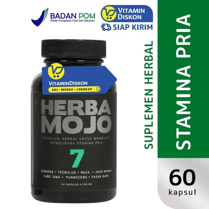 Foto Produk HERBAMOJO UNTUK MEMBANTU MEMELIHARA STAMINA PRIA 60 CAPS dari Vitamindiskon
