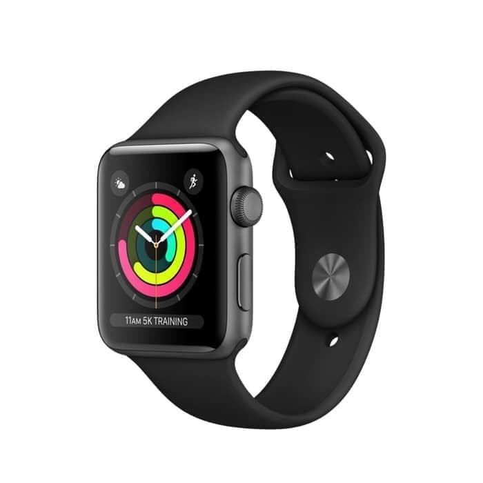 Foto Produk Apple Watch Series 3 42mm Nike+ Space Gray Aluminum Black Sport Band - 38, Hitam dari O-Gadget
