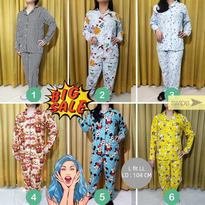 Foto Produk Piyama Free Size L-LL Lengan Panjang Wanita PP Set Baju Tidur - Nomor 1 dari Millen Collection