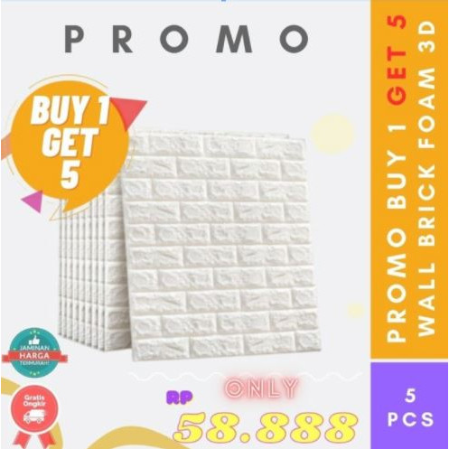 Foto Produk Wallpaper Brick Foam 3D - Wallpaper Busa [Promo 5pcs] Murah - Brick Foam dari AbadinternasionalTrading