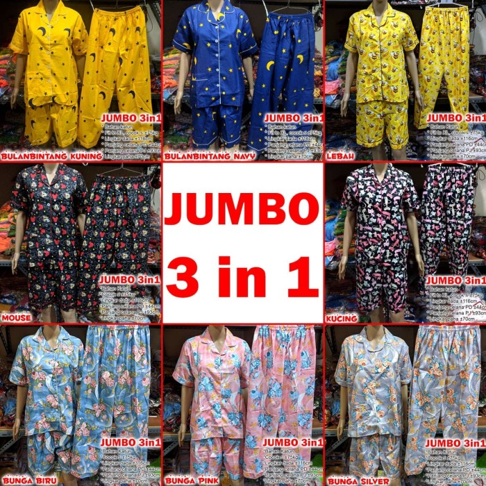 Foto Produk Piyama Jumbo baju tidur katun 3 in 1 dari Baju Anak Maruno