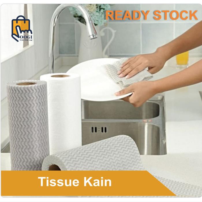 Foto Produk Tissue Kain Lap Pembersih Dapur Bisa dicuci Bahan non woven - Random dari OOGI