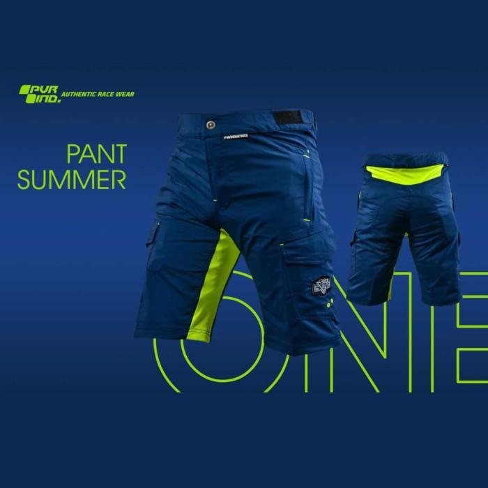 Foto Produk Celana Pendek Sepeda PVR SUMMER ONE NAVY GREEN - MTB short pants - 28 dari Kaligung