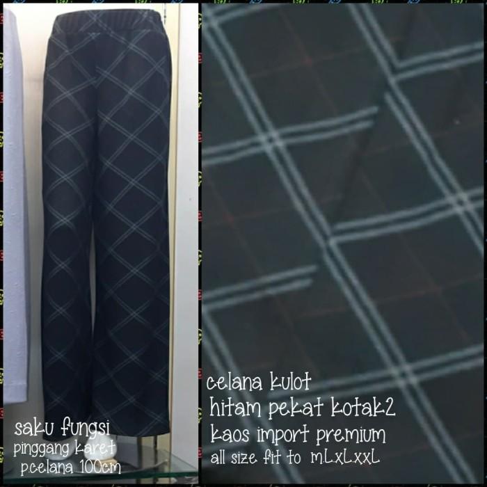 Foto Produk Celana kulot Zara kotak2 import(adem.nyaman)allsize fitto s.m.L.xL.xxL dari Winnie Collection