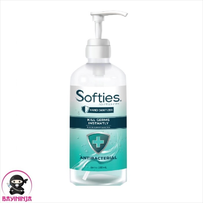 Foto Produk SOFTIES Antiseptic Hand Sanitizer Pump 250 ml dari BAYININJA
