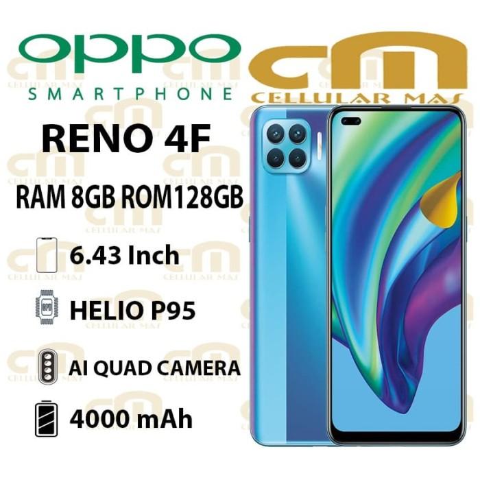 Foto Produk Oppo Reno 4F 8/128 RAM 8GB ROM 128GB GARANSI RESMI OPPO - Hitam dari Cellular Mas