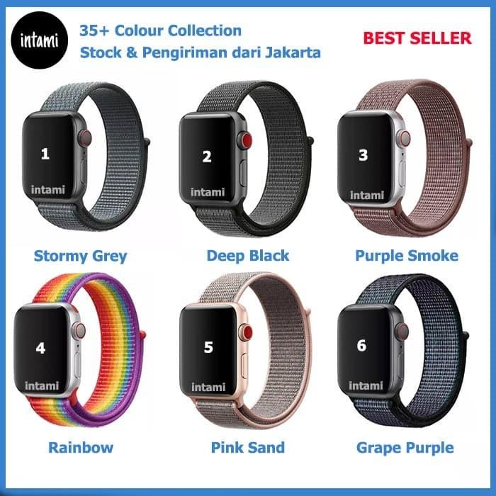 Foto Produk Strap Apple Watch Iwatch Sport Loop Band series 4 3 2 1 Nylon Woven - 38 40 dari intamishop