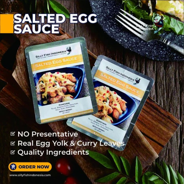 Foto Produk Silly Salted Egg Sauce 40 gr dari Silly Fish Jatibening