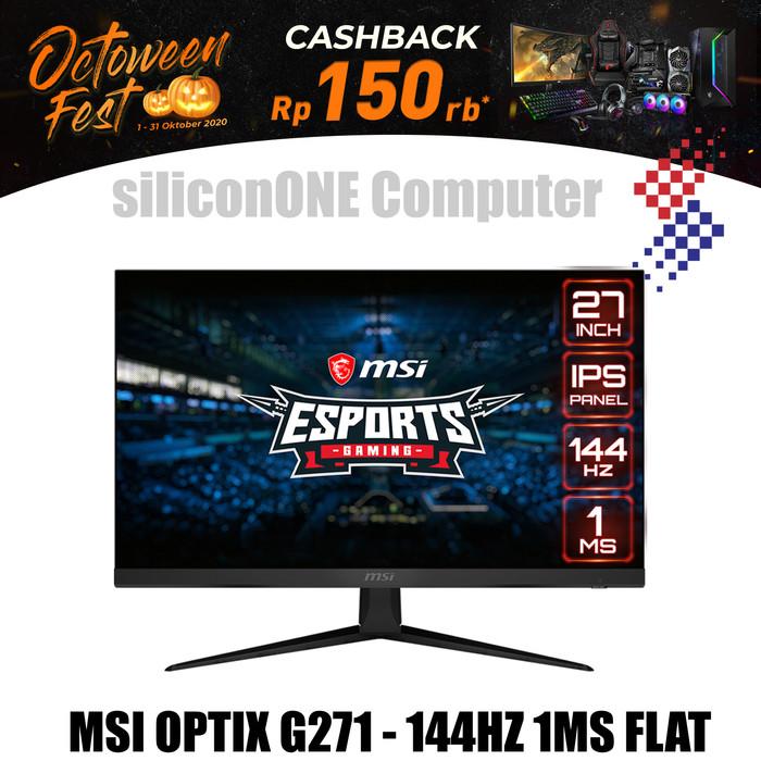 Foto Produk MSI OPTIX G271 IPS FHD 144Hz 1ms Frameless Freesync E-Sports Gaming dari silicon ONE Computer