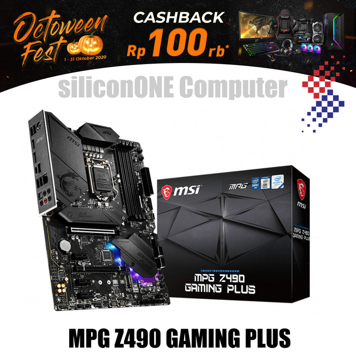 Foto Produk MSI MPG Z490 GAMING PLUS dari silicon ONE Computer