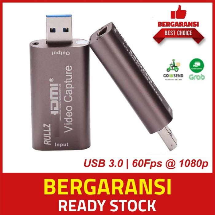 Foto Produk HDMI CAPTURE USB 3.0 Streaming OBS Vmix Zoom Ps4 Xbox DSLR Camera dari Alif Medic