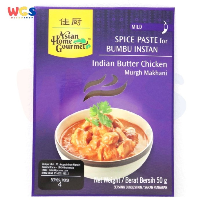 Jual Asian Home Gourmet Ahg Indian Butter Chicken 50 Gr Murgh Makhani Kab Tangerang Wighoshop Tokopedia