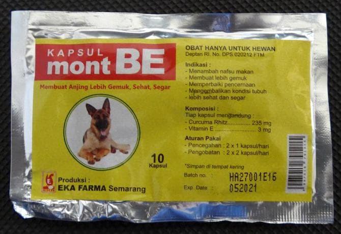 Jual Vitamin Anjing Ekafarma Mont Be 10caps Jakarta Barat Faast Shoping Tokopedia