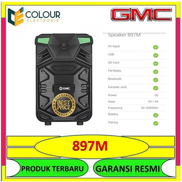 Jual Speaker Bluetooth Portable Speaker Mini Meeting Gmc 897m Kota Tangerang Colour Elektronik Tokopedia