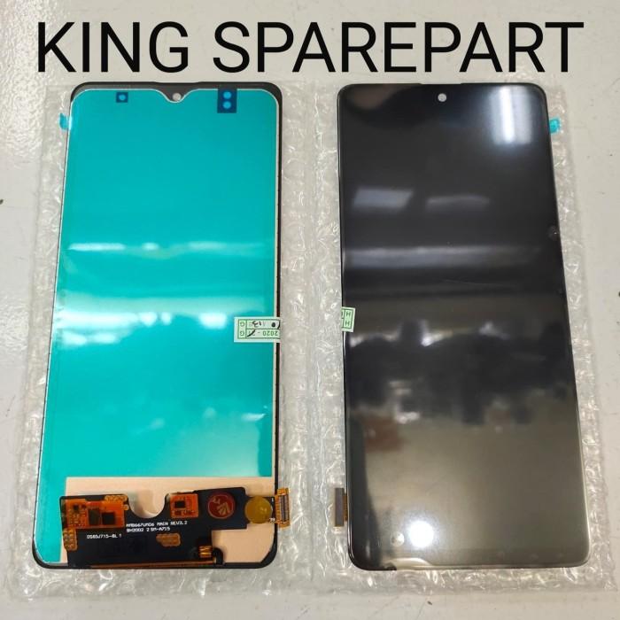 Foto Produk LCD TOUCHSCREEN SAMSUNG GALAXY A71 A715 A7 2020 ORIGINAL - Hitam dari KING sparepart