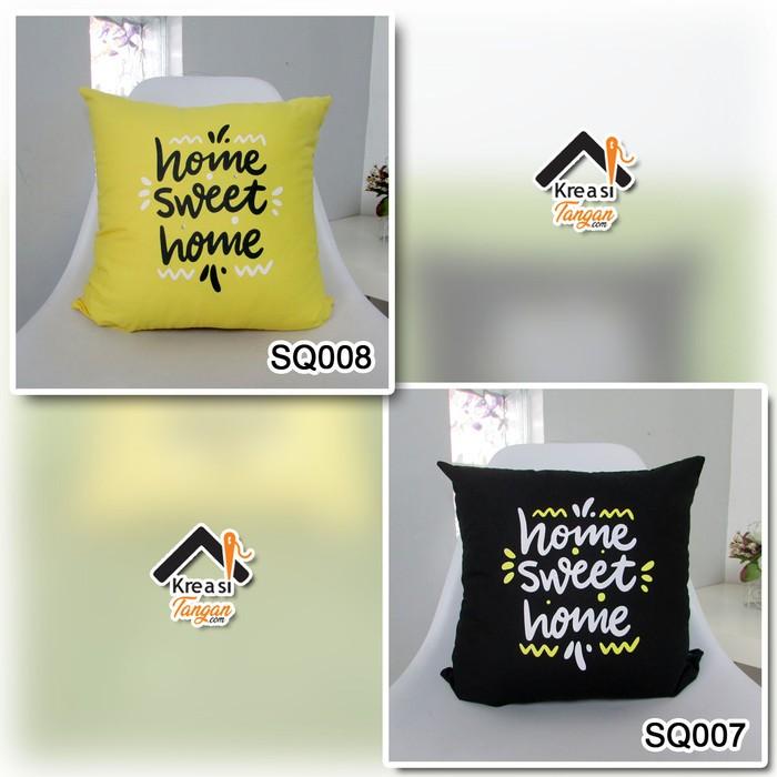 Foto Produk SARUNG BANTAL KATA KATA HOME SWEET HOME 2 - Kuning dari kreasitanganshop