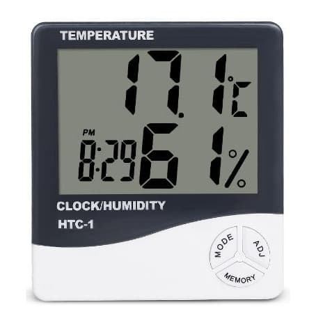 Foto Produk Hygrometer + Jam HTC-1 / HTC1 / HTC 1 Alat ukur temperatur+kelembaban dari angel-city