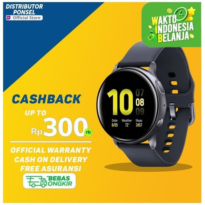 Foto Produk Samsung Galaxy Watch Active 2 / Samsung Smartwatch Garansi SEIN Black - Rose Gold, 40mm dari Distributor Ponsel
