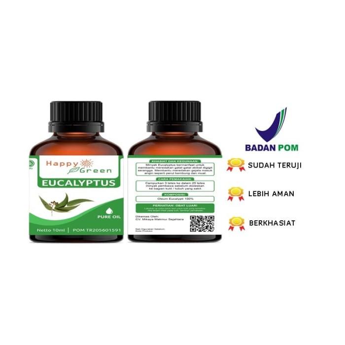 Foto Produk Happy Green Eucalyptus Essential Oil (10 ml) - Minyak Ekaliptus murni dari Happy Green Garden - JKT