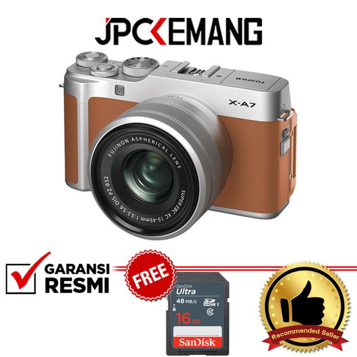 Foto Produk Fujifilm Fuji XA7 X-A7 Kit 15-45mm OIS PZ GARANSI RESMI - Camel dari JPCKemang