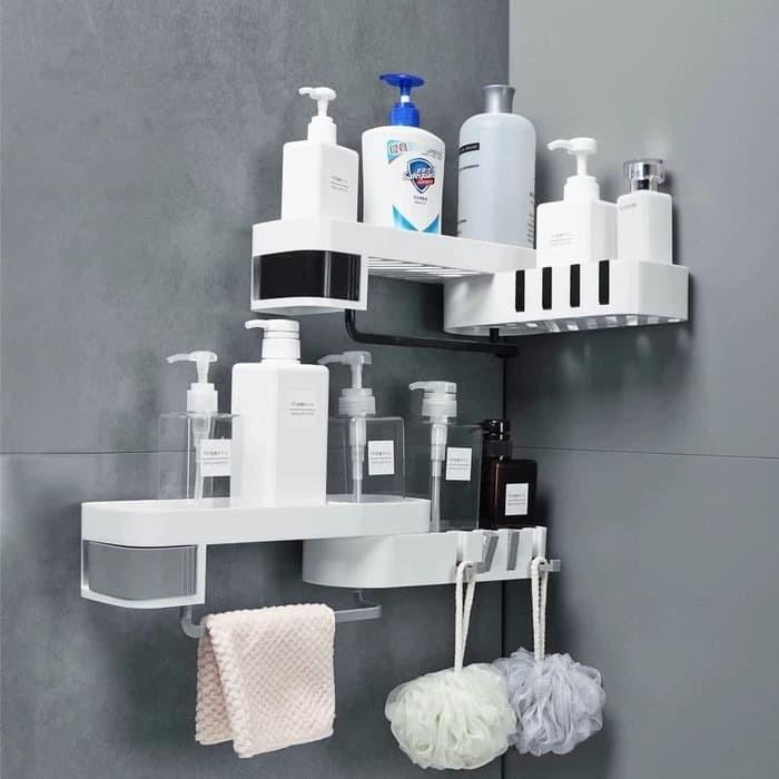 Foto Produk Rak Sabun Shampoo Rak Toilet/Kamar Mandi Rak Tempel Dinding Sudut 874 dari Interior House Concept