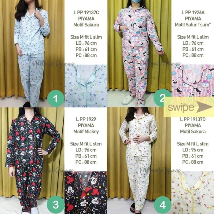 Foto Produk Set Piyama Size M Wanita Lengan Panjang CP Set Baju TIdur Motif - Nomor 1 dari Millen Collection