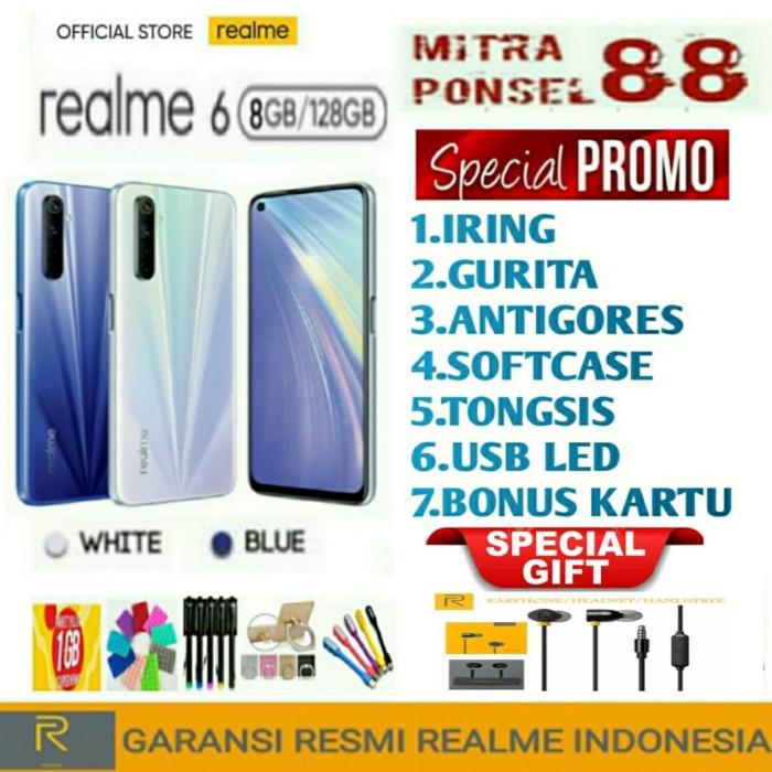 Foto Produk REALME 6 RAM 8/128 GB GARANSI RESMI REALME 1TAHUN - Putih dari Mitra Ponsel 88